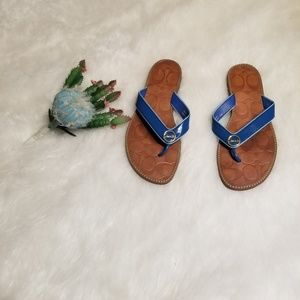Coach Cobalt Blue Deney Sandals